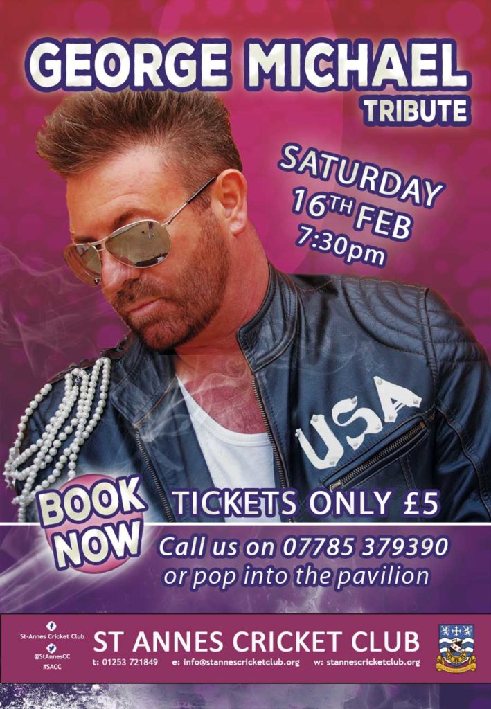 George Michael Tribute Act 16 Feb 2019 at St Annes CC