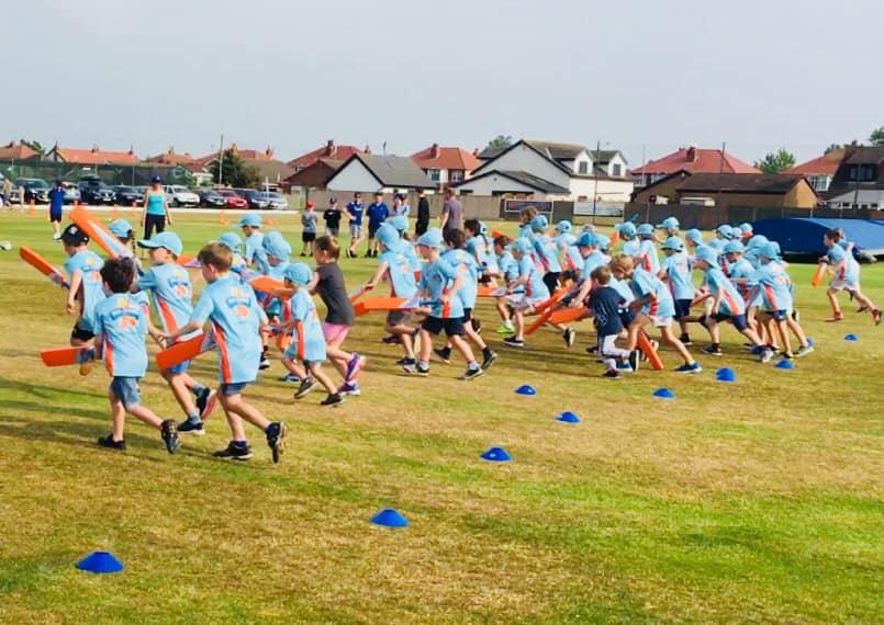 Children having fun at All Stars Cricket at St Annes CC