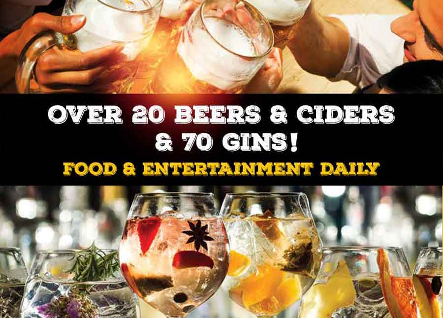 5 Day Beer & Gin Festival 23-27 May 2019 – FREE Entry
