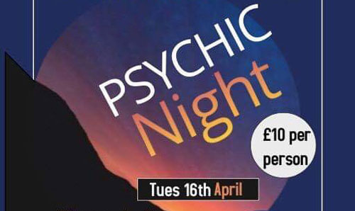 Psychic Night & Hot Pot Supper with TV's Jeanette Greenough 16 Apr 2019
