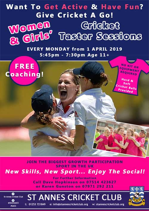 Enjoy being part of a great social scene, play women & girls cricket at St Annes CC
