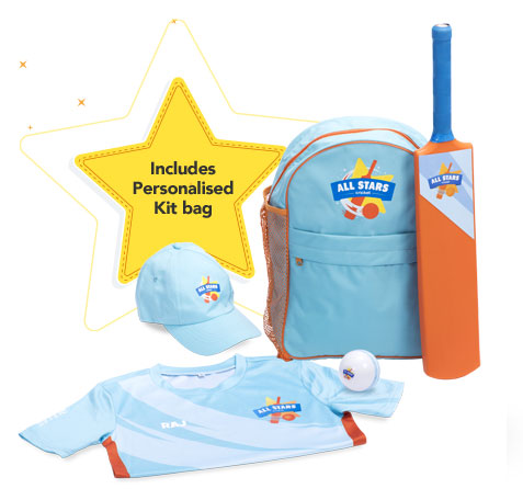 All Stars Cricket kit & personalised t-shirt included