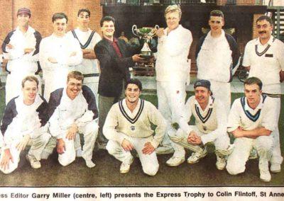 LSA Express Challenge Trophy Winners 1995 St Annes CC - Capt Colin Flintoff