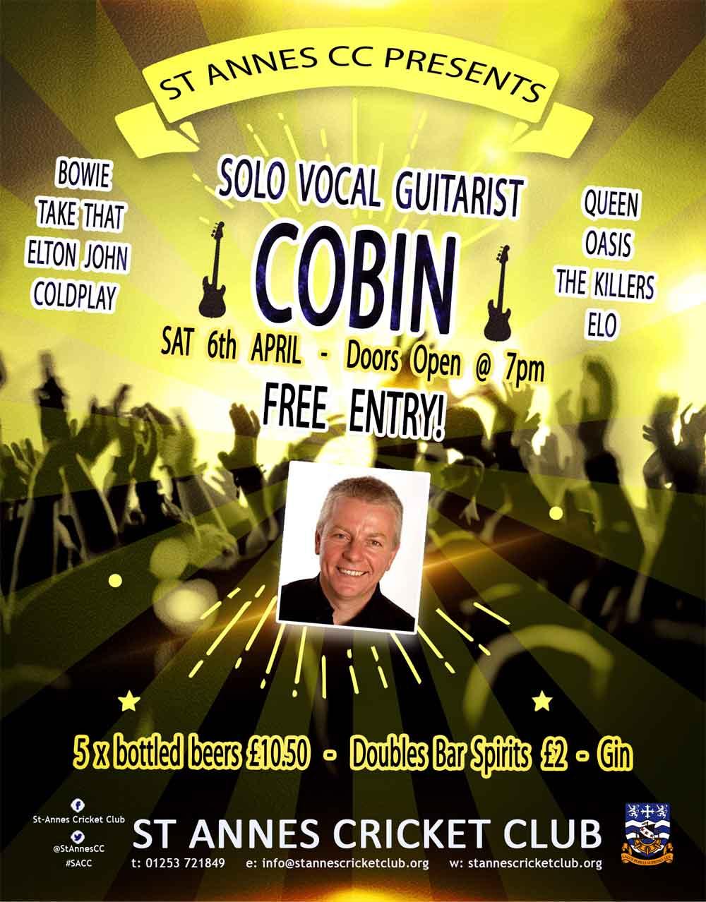 Superb solo vocal guitarist Cobin