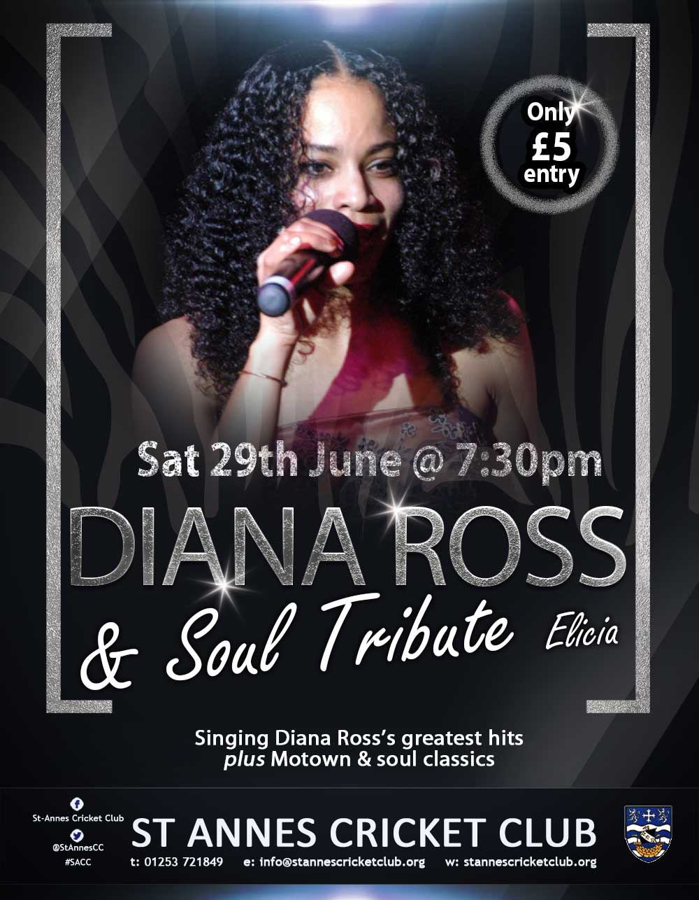 Diana Ross tribute act Elicia, singing soul & Motown classics