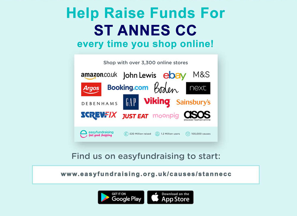 Help us fundraise by shopping at these retailers through Easy Fundraising - it's REALLY easy!