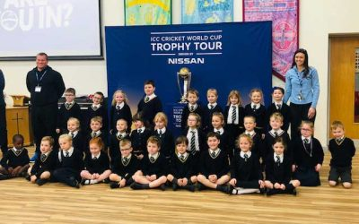 ICC Cricket World Cup Trophy Was A 'Big Hit' With The Children!