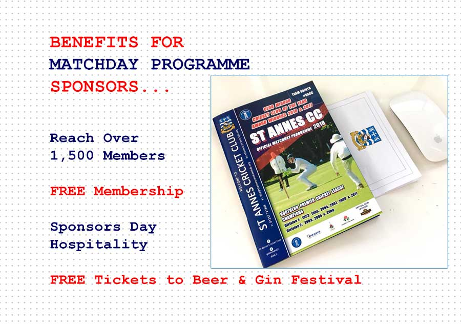 Sponsors receive many benefits with the matchday programme sponsorship package