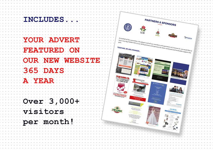 Your advert showcased on our website 365 days a year