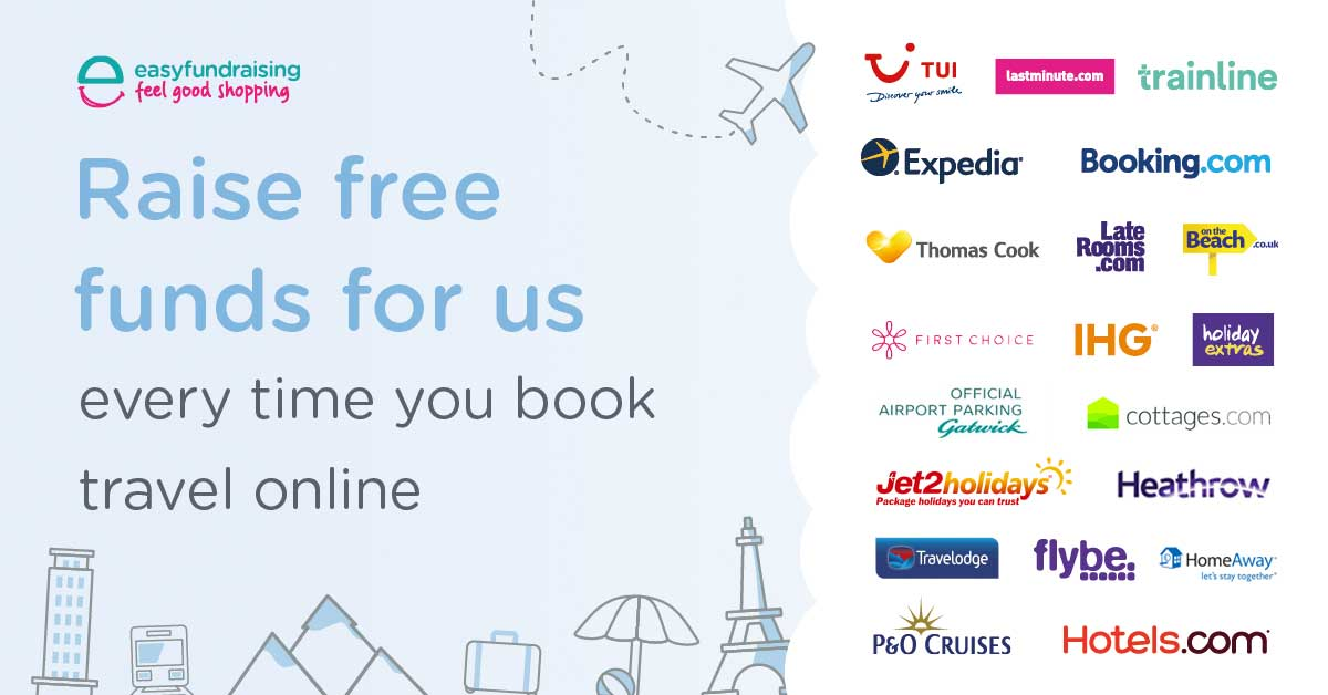 Travel companies that donate to St Annes CC when you shop via our Easy Fundraising page or the app