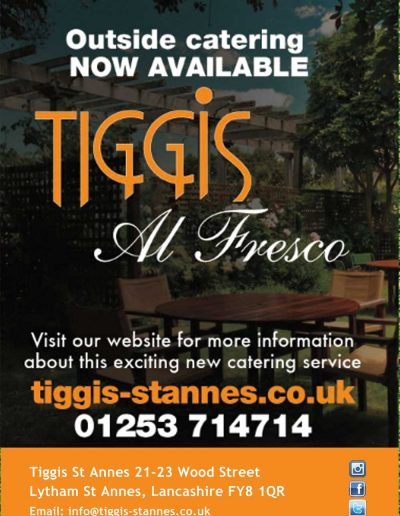 Tiggis Italian Restaurant sponsors St Annes CC