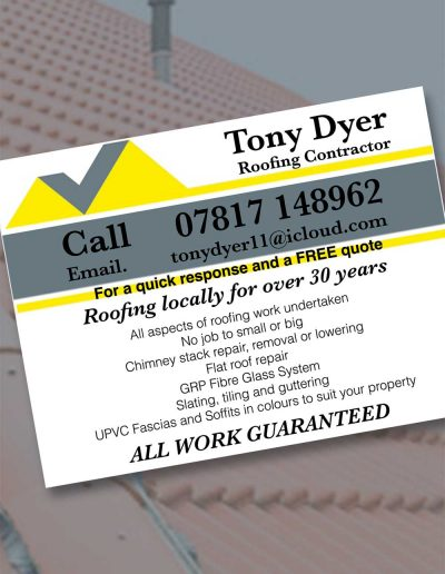 Tony Dyer Roofing Contractor sponsors St Annes CC