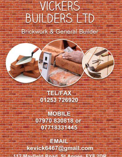 Vickers Builders Ltd sponsors St Annes CC