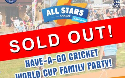 2 Hours Have-A-Go All Stars Cricket For FREE! Fri 9 Aug 2019