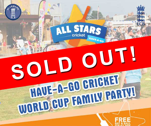 All Stars Cricket Have-A-Go World Cup Party at St Annes CC Fri 9 Aug 2019