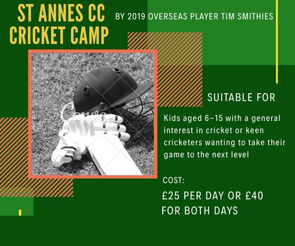 2 Day Cricket Camp For Kids Age 6 to 15 – Thurs 8th & Fri 9th 8 Aug 2019