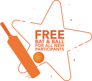 FREE bat & ball for all new participants