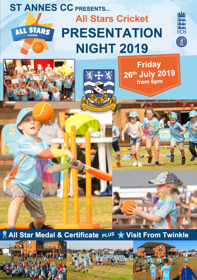 All Stars Cricket Presentation Night 2019 at St Annes CC