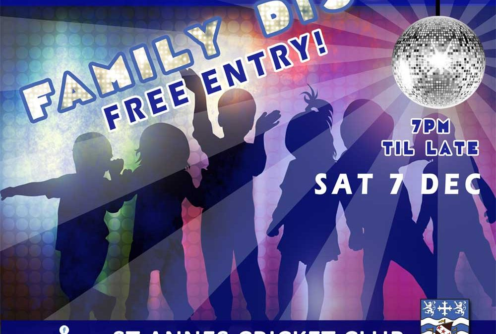 Christmas Family Disco – Free Entry! Sat 7 Dec 2019