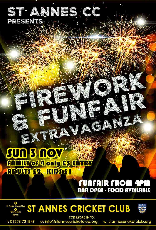 Firework Display & Funfair at St Annes Cricket Club