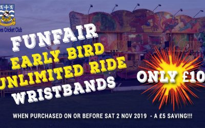 Save £5! Early Bird Funfair Unlimited Ride Wristbands