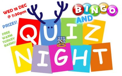 Christmas Quiz & Bingo, Prizes & Food Included! Wed 18 Dec 2019