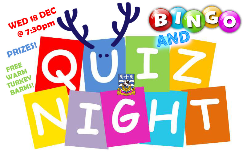 Feeling lucky? Take part in our Christmas Quiz Night followed by Bingo!