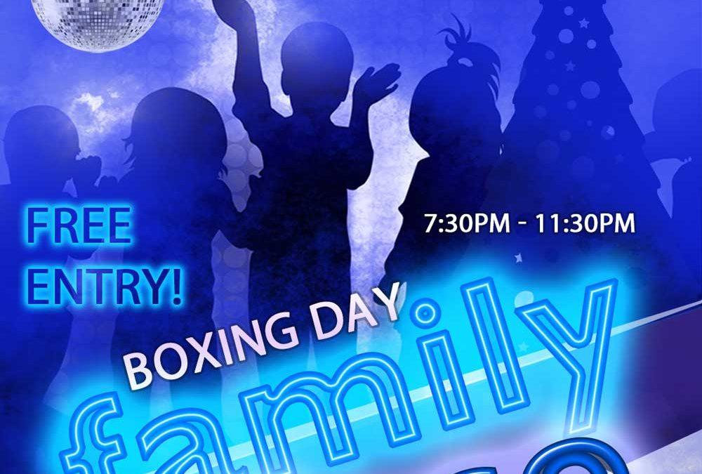 Boxing Day Family Disco – FREE Entry!
