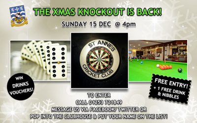It's A Knockout! The Christmas Snooker, Darts & Dominoes Competition Is Back – Sun 15 Dec 2019