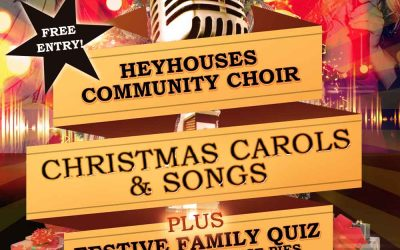 Heyhouses Community Choir Christmas Carols & Family Quiz, FREE Entry – Fri 13 Dec 2019