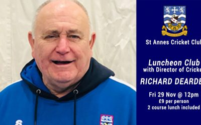 Luncheon Club With Cricket Coach Richard Dearden – Fri 29 Nov 2019