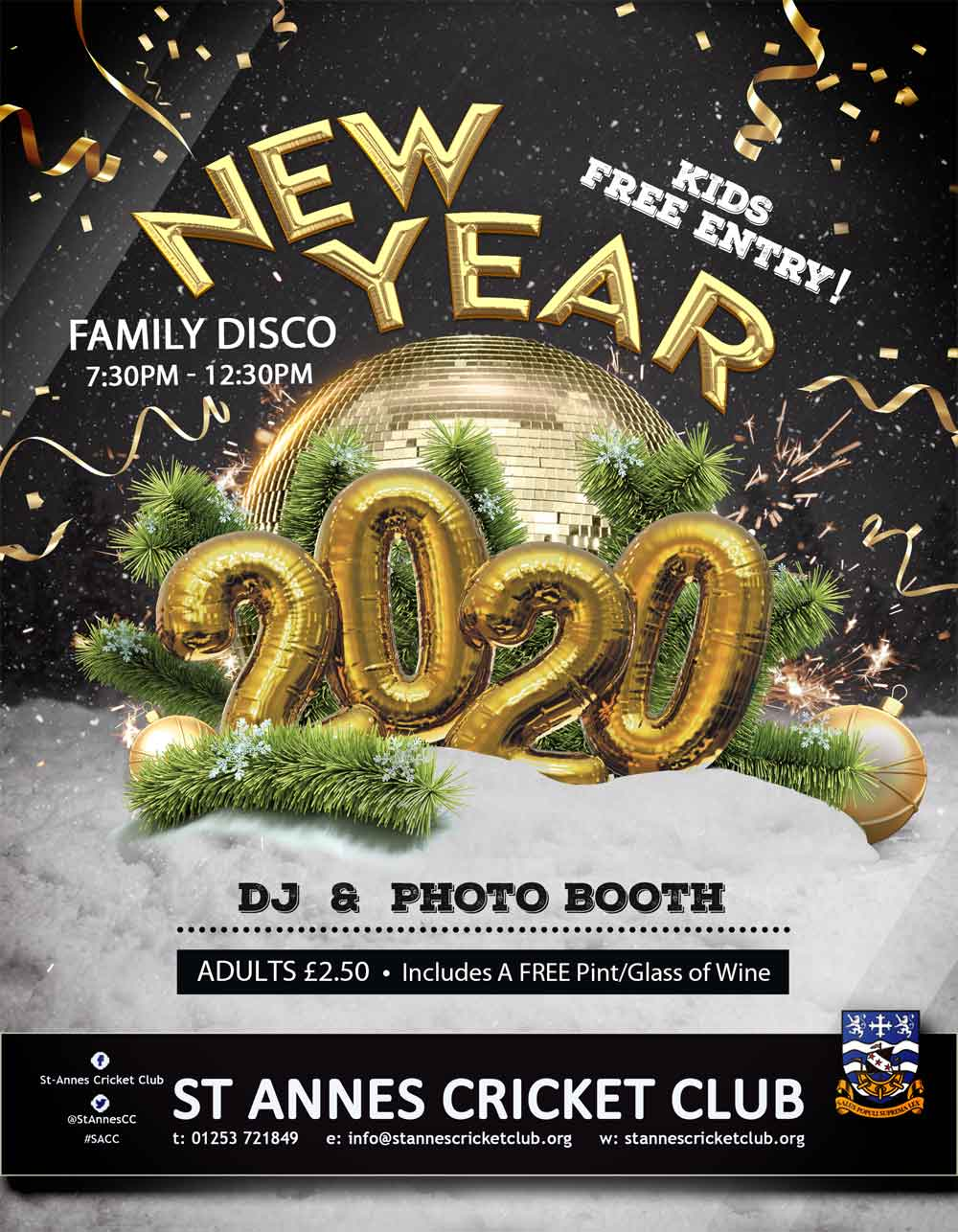 Celebrate New Years Eve together at our family disco & capture the memories in our photo booth!