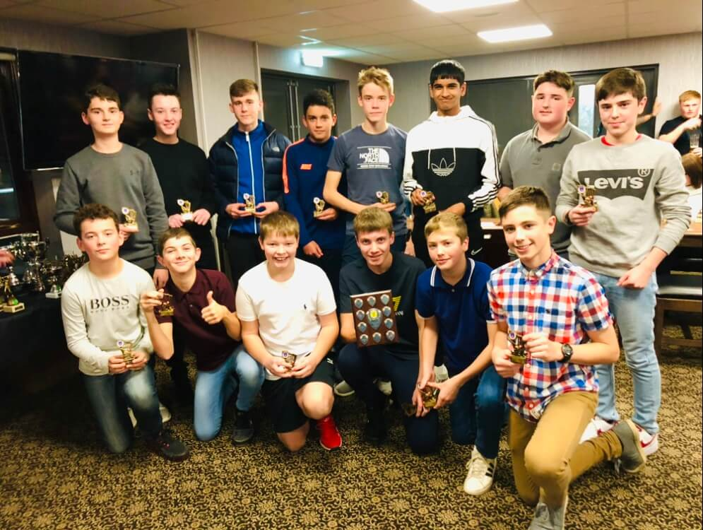 2019 Presentation Night Juniors U14 League Runners Up St Annes CC