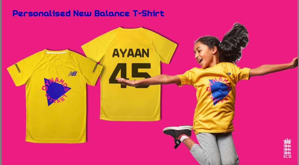 Dynamos Cricket personalised New Balance t-shirt