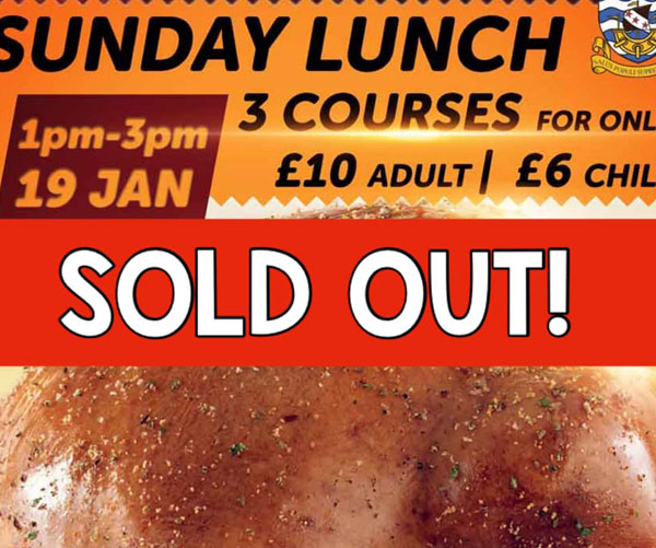 Delicious 3 Course Sunday Lunch & Special Offer – Sun 19 Jan 2020