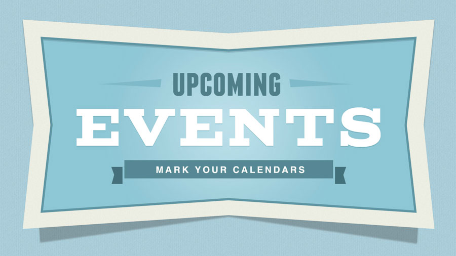 2020 Upcoming Events
