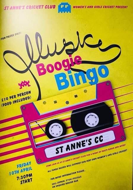 Boogie Bingo Music & Games Night at St Annes CC