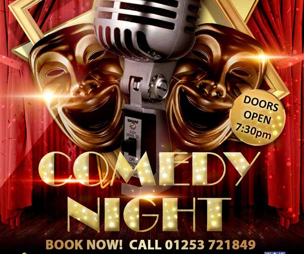 ** CANCELLED ** Comedy Night… Because Laughter Is THE Best Medicine – Fri 27 March 2020