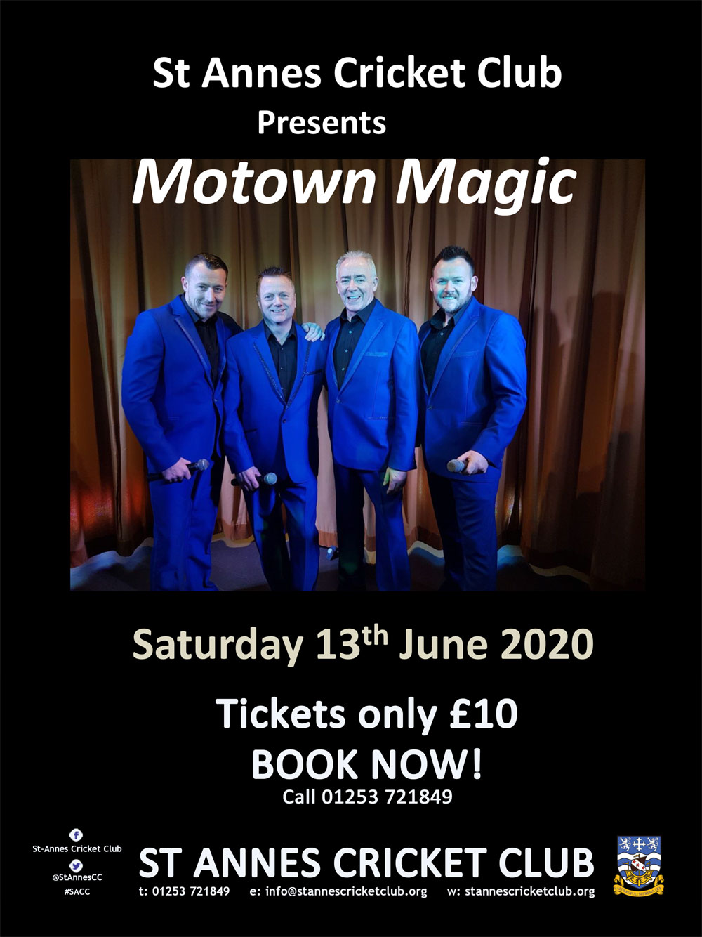 Watch Motown Magic, the UK's No.1 king of soul, live at St Annes CC