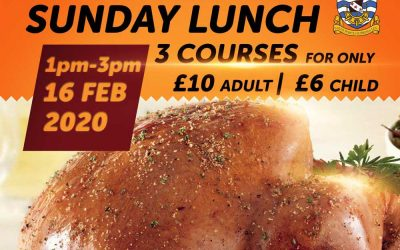 Delicious 3 Course Sunday Lunch & Special Offer – Sun 16 Feb 2020