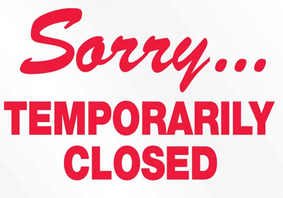 Sorry, we are temporarily closed