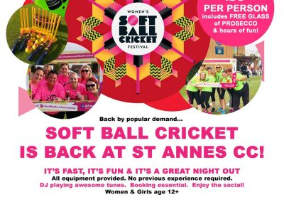 Back by popular demand, it's the St Annes CC Women's Soft Ball Cricket Festival - Friday 20 Aug 2021!