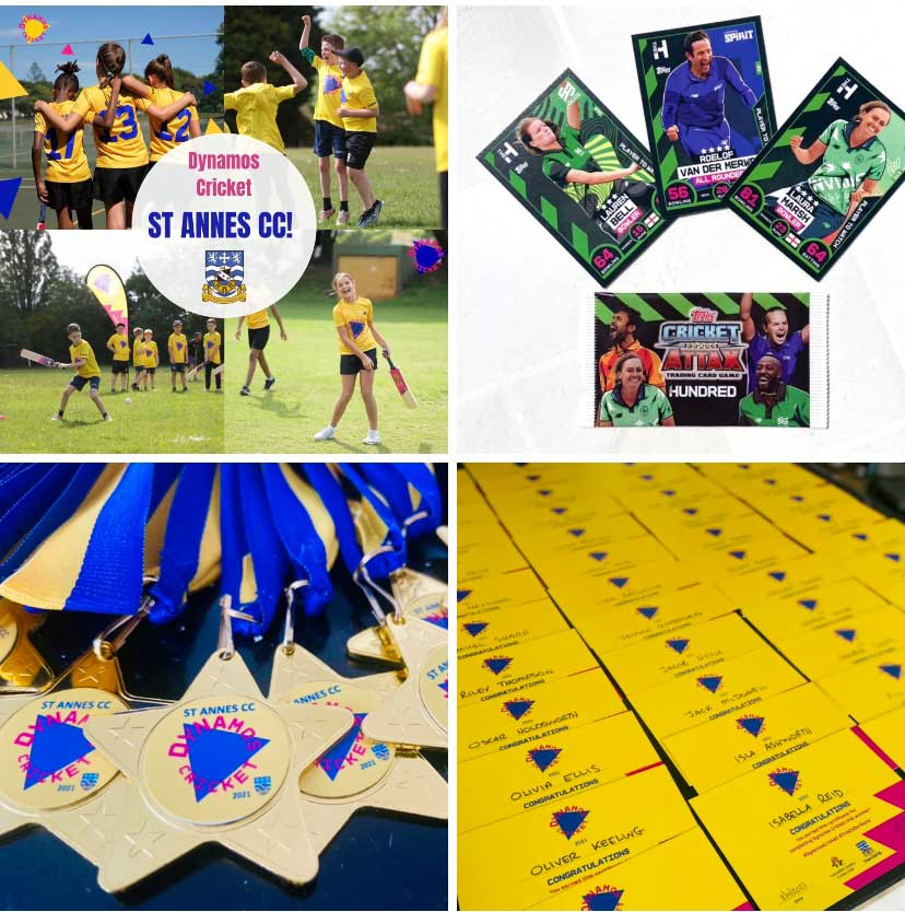 Dynamos Cricket St Annes CC Medals & Certificates