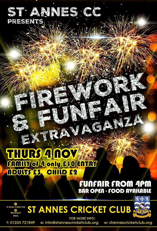 Firework display, Funfair, food & drink at our Firework Extravaganza!
