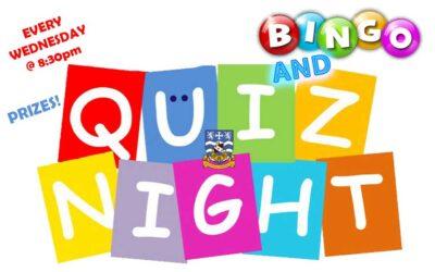Quiz Night & Bingo Every Wednesday!