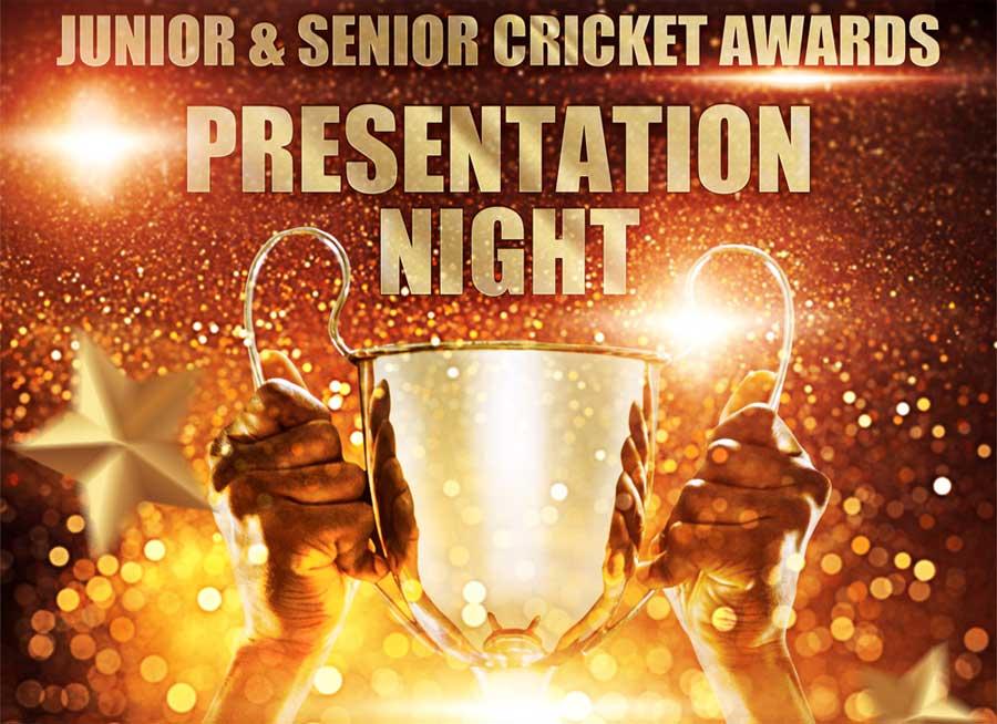 Awards! Junior & Senior Cricket Presentation Night – Fri 19 Nov 2021